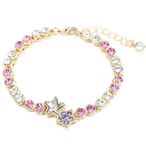 BL-020266C7 Alloy Korean Version Star Inlaid Crystal Women's Bracelet