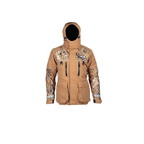 (Striker Ice SI Climate Jacket, Brown/Camo, XL)