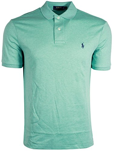 RALPH LAUREN Polo Men Medium Fit Interlock Polo Shirt (M, MetroGren) (Embroidered Interlock)
