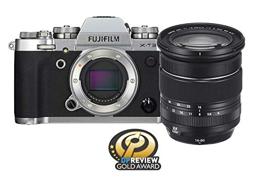 Fujifilm X-T3 Mirrorless Digital Camera w/XF16-80mm Lens Kit - Silver (Renewed)
