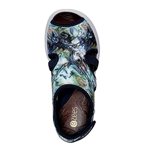 Bzees Womens Kiss Sandal Blu Multi Print
