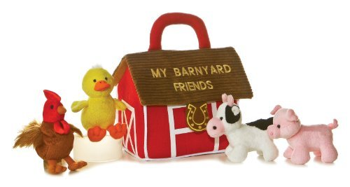 Plush Baby 6' My Barnyard Friends Carrier with Sound