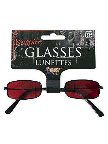 Elope Black with Red Vampire Glasses - Black With Red Vampire Glasses