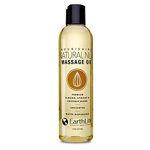 EARTHLITE Massage Oil NATURAL-NUT - NEW FORMULA - Highest Quality, Unsurpassed Glide, 100% Chemical-Free, Unscented ()