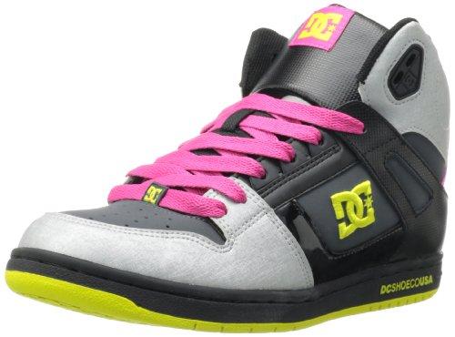 DC Jugend Rebound Skate Schuhe Schwarz / Metallic Silber