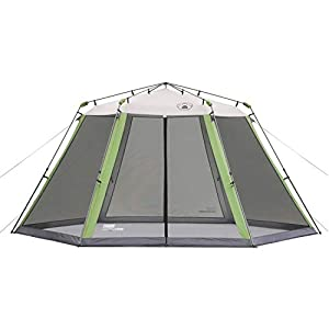 Coleman Screened Canopy Tent with Instant Setup   Back Home Screenhouse Sets Up in 60 Seconds