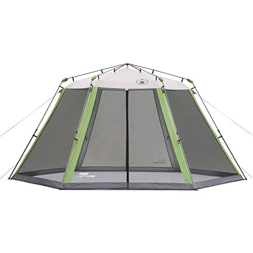 (Coleman Screened Canopy Tent with Instant Setup | Outdoor Canopy and Sun Shade with 1 Minute Set Up)