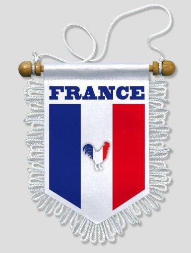 13 x 15 cm KOO Interactive Frankreich Auto Wand Fahne Flagge Wimpel