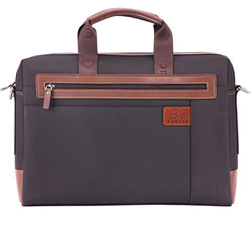 Banuce 14 Inch Laptop Messenger Bag Waterproof Nylon Briefcase for Men Tote Shoulder Computer Bags Attache Case (Men Handbags In 14 For Briefcase)