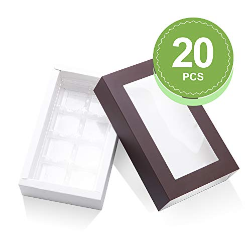 Find Bargain BAKIPACK Truffle Box, Chocolate Box Packaging, Candy Boxes with 8-Piece Plastics Trayï¼...