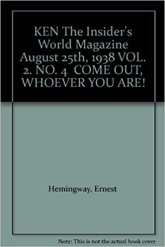 Book KEN The Insider's World Magazine August 25th, 1938 VOL. 2. NO. 4