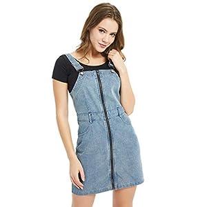 Women's  Classic  Overall Denim Skirt Dress