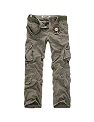 Tidecloth Women's Straight Long Slim Fit Zipper Casual Pants Gray One Size