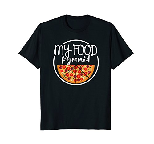 food pyramid pizza shirt - 8
