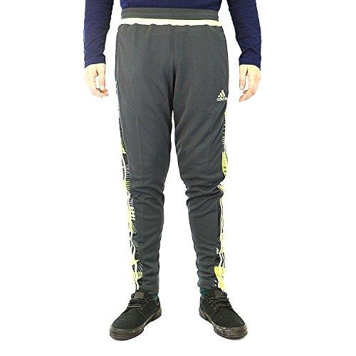 adidas Men's Tiro 15+ Graphic Pant Dark Grey/Light Flash Yellow/Semi Solar Yellow Pants SM X 30