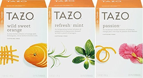 Tazo Herbal Tea, Wild Sweet Orange & Refresh Mint & Passion, 20 Filterbagas Each