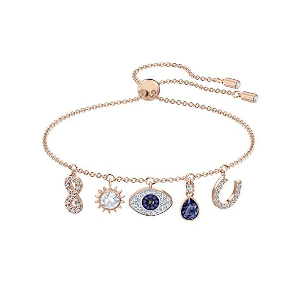SWAROVSKI Women's Symbolic Evil Eye Charm Blue/White Crystal Jewelry Collection
