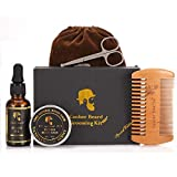 KEYNEW Beard Conditioners & Oils Essential Beard Care Grooming & Trimming Kit, Mustache