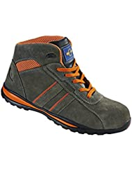 Pro Man PM4060 S1P SRC Grey Orange Steel Toe Cap Hiker Style Safety Work Boots Sneakers
