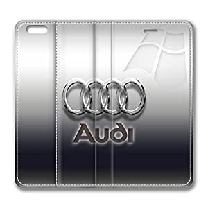 Audi Logo Standing Leather Smart Cover Case Exclusive for iPhone 6 with 4.7 inch Screen by runtopwellby Maris's Diary
