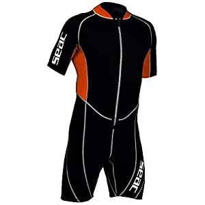 Seac Ciao Shorty Wetsuit for Men - Black, L