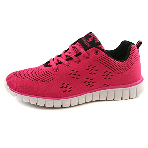 Boston Athletics Womens Shock Absorbing Running Gym Trainers Sizes 3-8 Wave Pink 3WubgxIv6