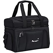 Cooler Bag - Dual Insulated Compartment. Aluminium foil, High-Density Insulation, 4 Heat-Sealed Removable Thick Peva Liners. Multiple Pockets - Soft Cooler Lunch Box