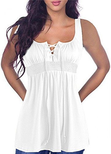 Empire Waist Silk Tunic - Imysty Plus Size Womens Tunic Peplum Sexy Tank Empire Waist Lace Up Shirts Tops Tee