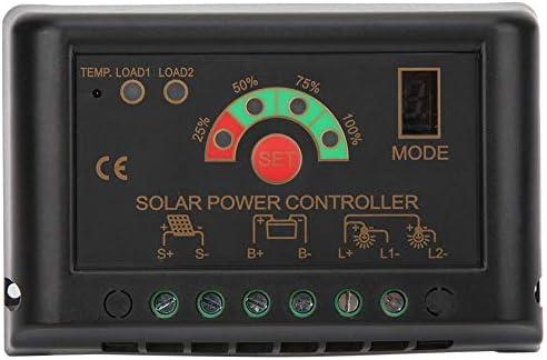 JN-S 12/24V PWMソーラー充電コントローラー充電レギュレーターインテリジェント調整可能電源バッテリー充電器レギュレーター(JN-S 20A)