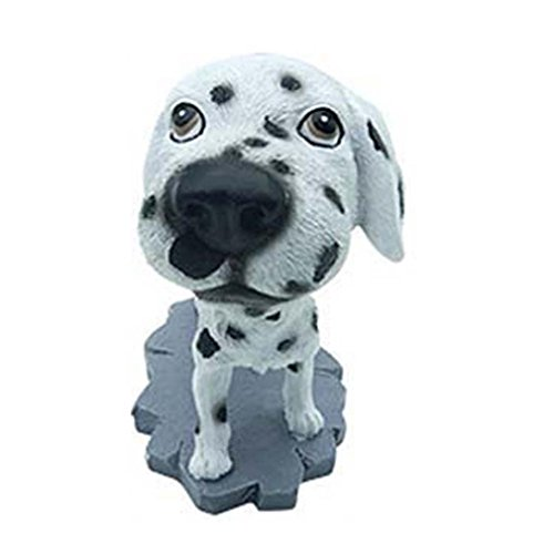 Lisin Animal Swinging Animated Bobble Dancer Toy Car Decor Nodding Resin Puppy Dog (E) (Halloween Fire Room Escape Game)