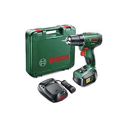 BOSCH 06039A3100 - Atornillador con batería de litio PSR 1800 LI-2. 18 V 1,5 Ah. Dos velocidades. Par de giro 20+1. Luz de trabajo. Máx 38 Nm. ...