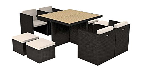 artelia esstisch set abeluna schwarz bestellen. Black Bedroom Furniture Sets. Home Design Ideas