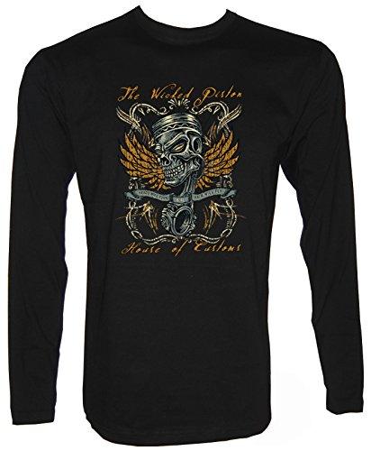 Custom Rockabilli Hot Rod Langarm T-Shirt