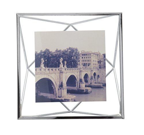 Umbra Prisma Picture Frame, 4 by 4-Inch, Chrome