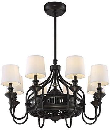 Savoy House Brisa 8-Light Air-Ionizing Fan d\'Lier in English Bronze 35-328-FD-13