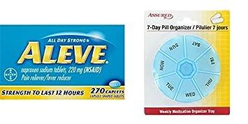 Aleve pastillas con naproxeno sódico, 220mg dolor analgésico / antipirético, cuenta 270 con gratis