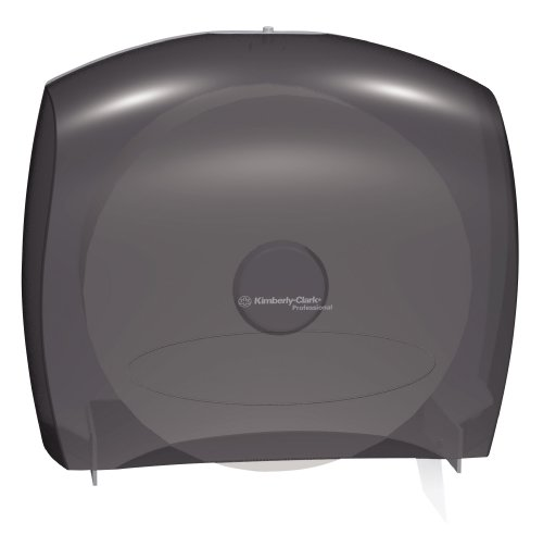 "Kimberly-Clark IN-SIGHT JRT 09612 Jumbo Roll Bath Tissue Dispenser, 14"" Width x 16"" Height x 5.8"" Depth, Smoke/Grey"