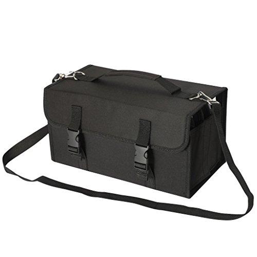 Chameleon Case Full (NIUTOP 120 Slots Marker Pen Case Markers Carrying Bag Holder for Primascolor Marker and Copic Sketch Marker, Permanent Paint Marker, Dry Erase Marker, Repair Marker Pen, Color Highlighter (Black))