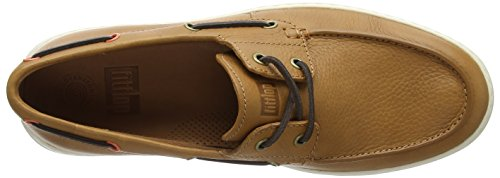 Fitflop Uomo Mocassini Lawrence Tan Brown Light Shoes Boat 592 qwU4qr