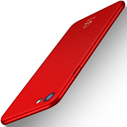 Capa Case iPhone 7 e iPhone 8 (4.7 Pol.), [Ultra-fino] Materiais Capa ultra-fina protetora para Apple iPhone 7 e iPhone 8 (4.7 Pol.) (Vermelho)