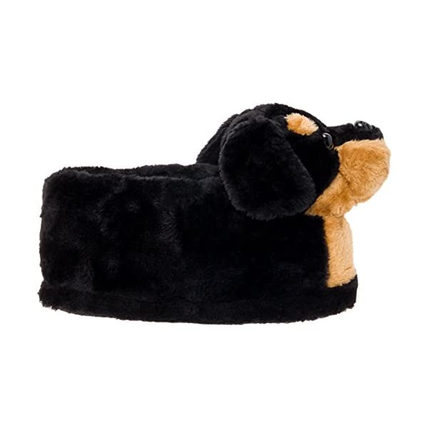 Silver Lilly Rottweiler Slippers - Plush Dog Slippers w/Platform 3
