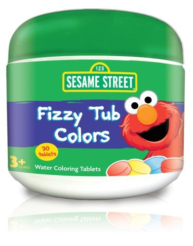 Sesame Street Fizzy Tub Colors Tablets 50 Count 3.5 Ounce (100ml) 20932