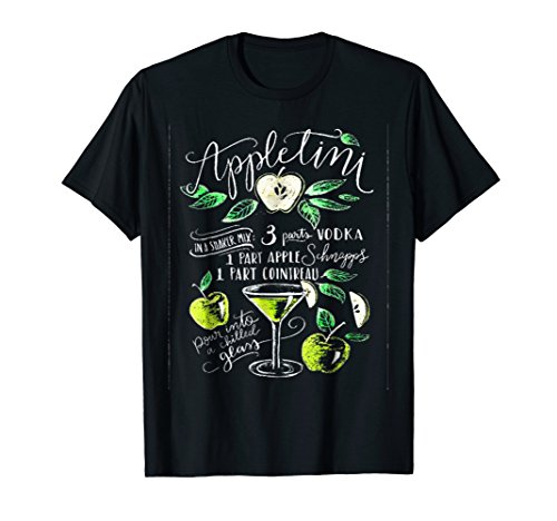 Applelini Cocktail Apple And Vodka T-shirt Perfect Gift