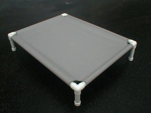 Dianes K9 Creations Inc. Large PVC Dog Cot. Pet Bed. Orthopedic Dog Bed. Canvas. 38x50x10 Charcoal