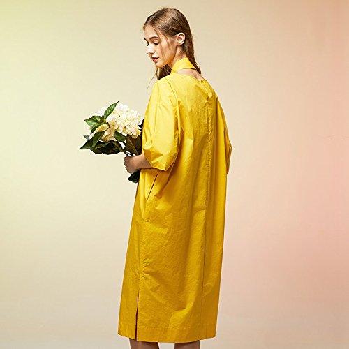 t Robes Jupe Amovible lache Original MiGMV col O Femmes Nouveau 2018 Longue Style Vtements M Curcuma Mode 160 Robe de la Printemps pour atwqFAX