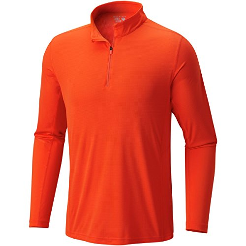 Mountain Hardwear Men's Photon Zip T-Shirt, State Orange, ()