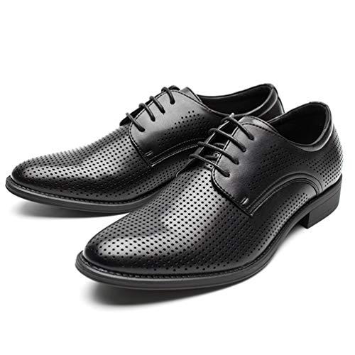 Zapatos Vestido Hombres Zapatos De Oficina Hombres Zapatos Verano Hombres Transpirable Oxford Negocio Hueco Negro De Los Casual Zpfqvwxw