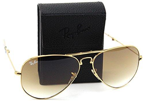 Ray-Ban RB3479 001/51 Folding Aviator Gold Frame / Light Brown Gradient Lens - Sunglasses Ban Folding Aviator Ray