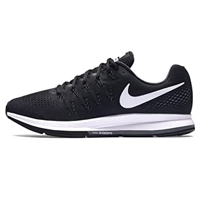 the best attitude f69ab e07e0 Nike Men s Air Zoom Pegasus 33 Black   White Running Shoes (7 UK India)   Buy Online at Low Prices in India - Amazon.in
