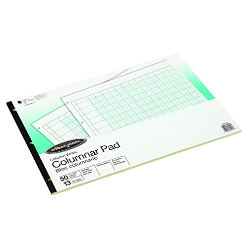 (Wilson Jones G7213A Accounting Pad, 13 Eight-Unit Columns, 11 x 16 3/8, 50-Sheet Pad)